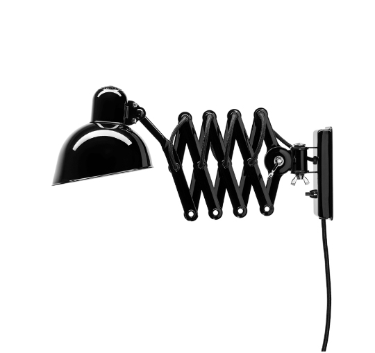 6718-w væglampe, blank sort
