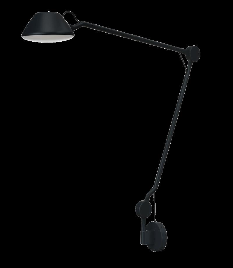 AQ01 væglampe, sort