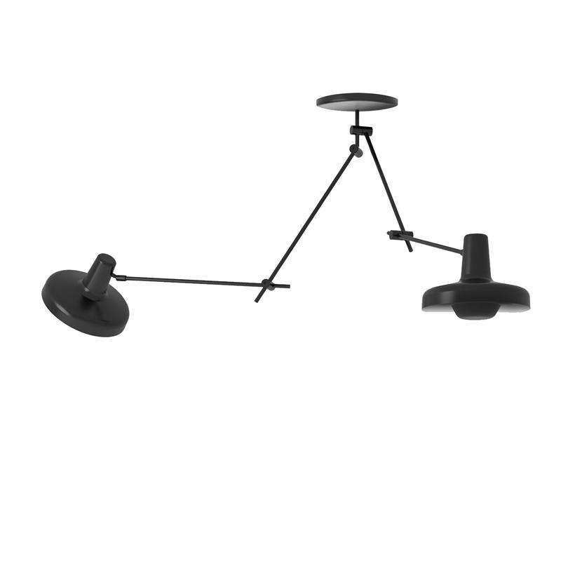 Arigato loftlampe dobbelt sort