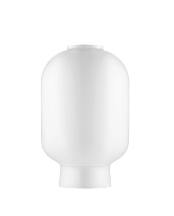 Erstatningsglas til Amp bordlampe, Hvid