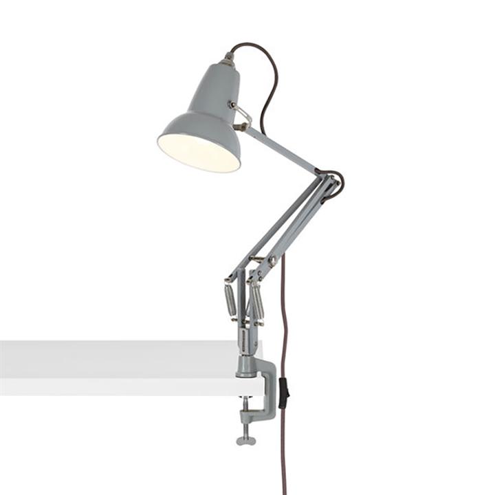 Original 1227 Mini lampe m/bordklemme, grå