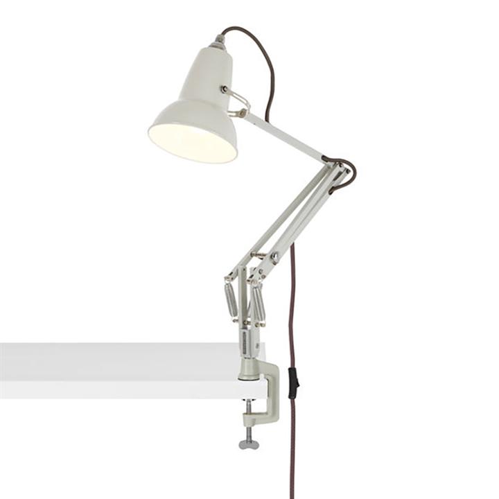 Original 1227 Mini lampe m/bordklemme, hvid