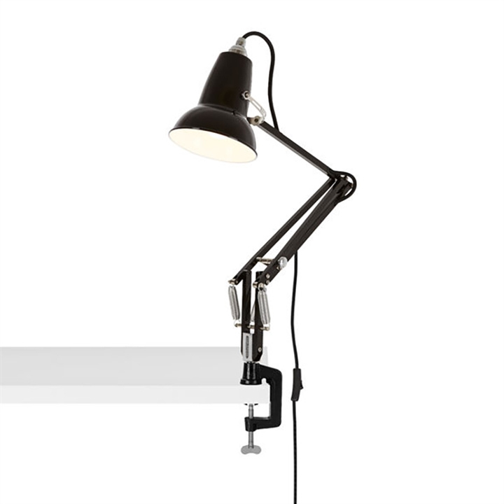 Original 1227 Mini lampe m/bordklemme, sort