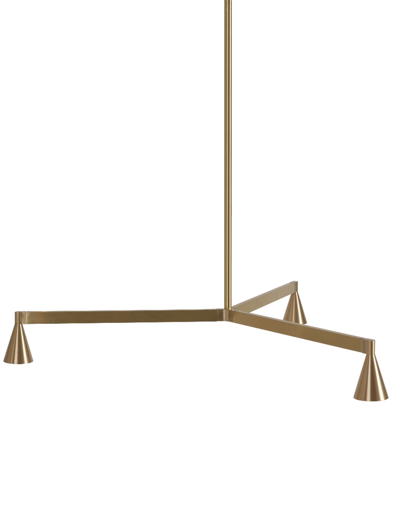 Austere chandelier 1y, messing, 750