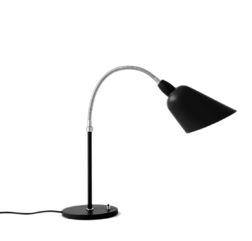 Bellevue aj8 bordlampe, mat sort/stål