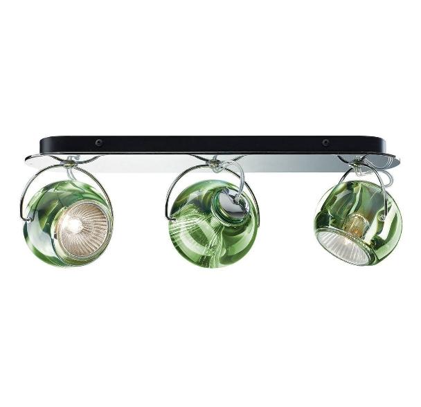Beluga 3 væg/loftlampe, grøn