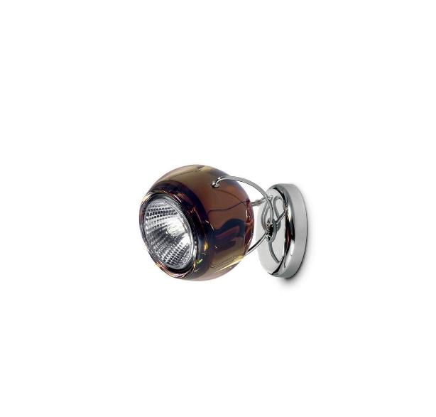 Beluga væg/loftlampe, brun med ledning