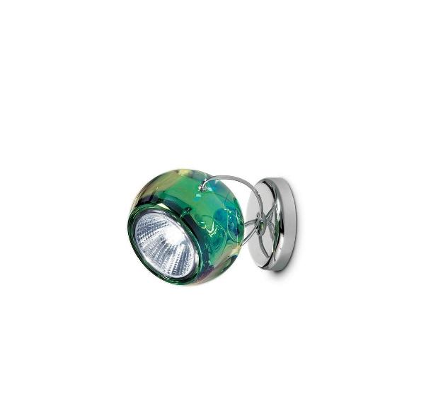 Beluga væg/loftlampe, grøn med ledning
