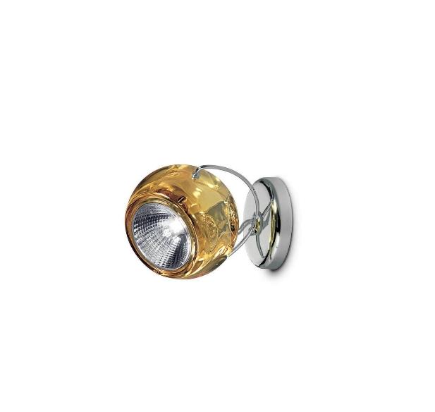 Beluga væg/loftlampe, rav med ledning