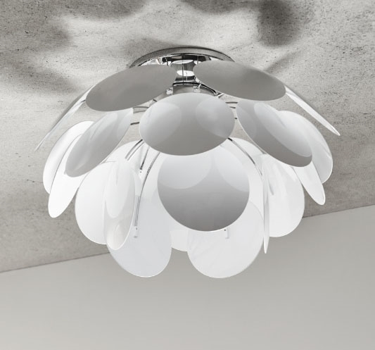Discoco loftlampe, 53 hvid