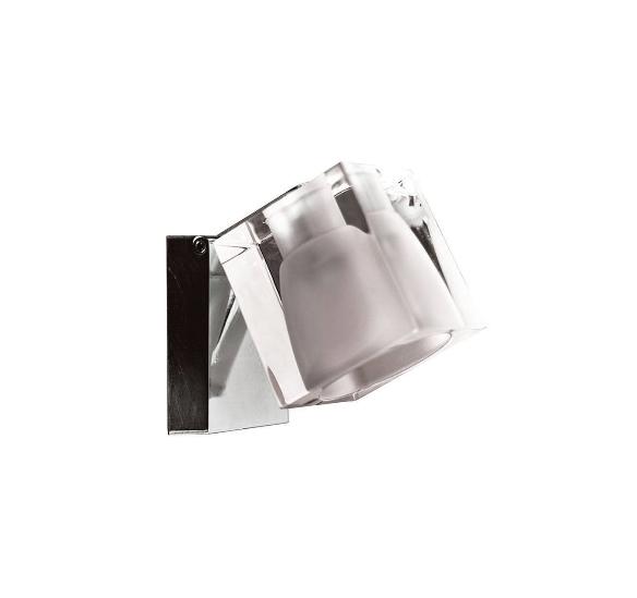 Ice cube væg/loftlampe, klar/krom m. ledning