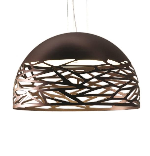 Kelly large dome pendel, kobber/bronze