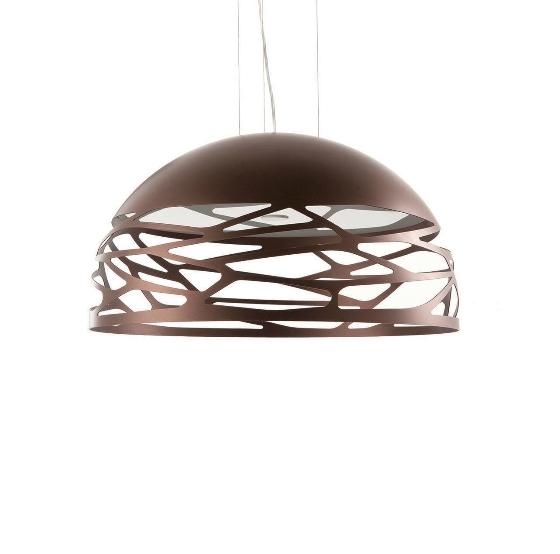 Kelly small dome pendel, kobber/bronze