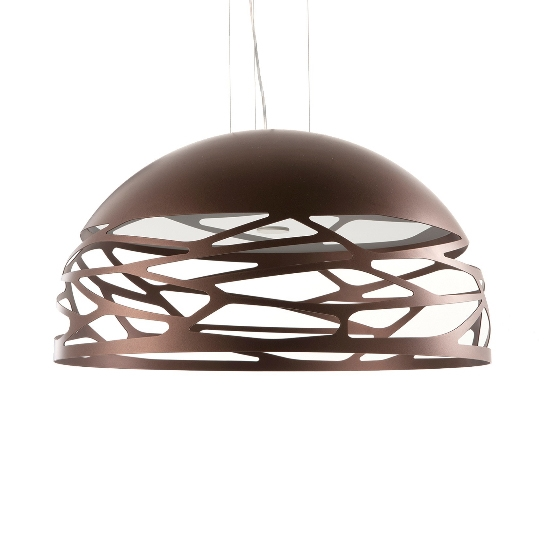 Kelly medium dome pendel, kobber/bronze