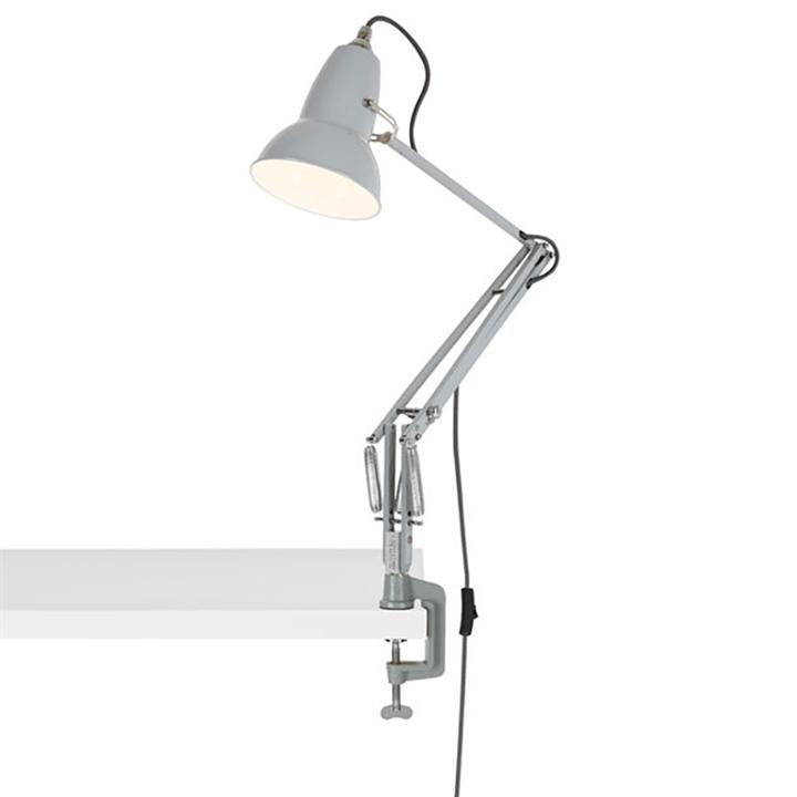 Original 1227 lampe m/bordklemme, grå