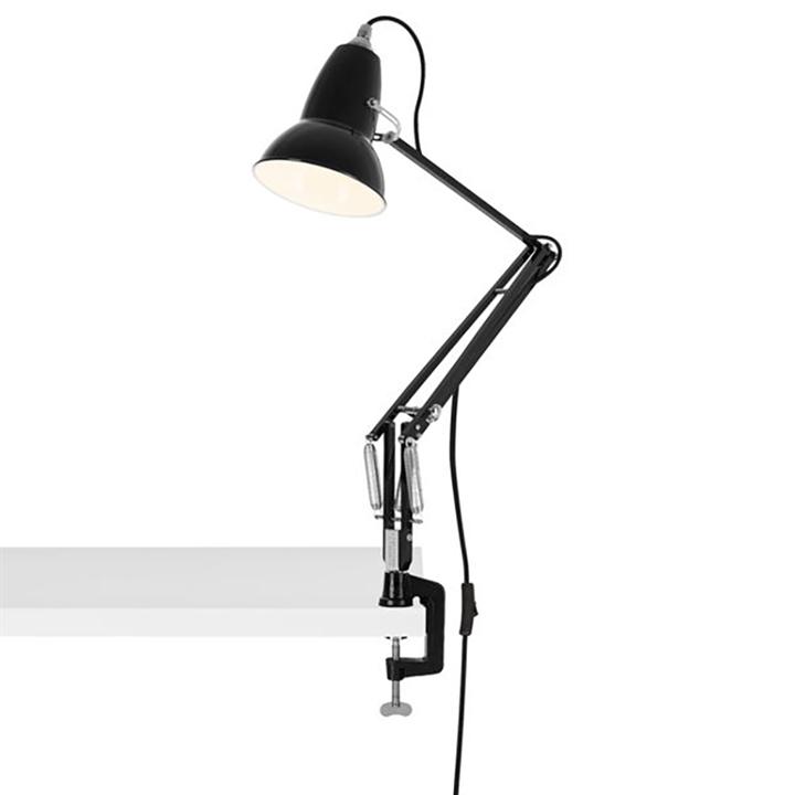 Original 1227 lampe m/bordklemme, sort