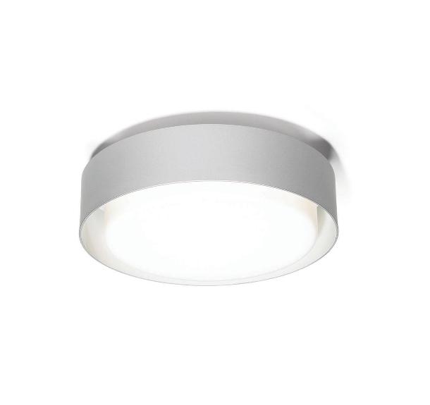 Plaff-on! væglampe, ø33 sølvgrå
