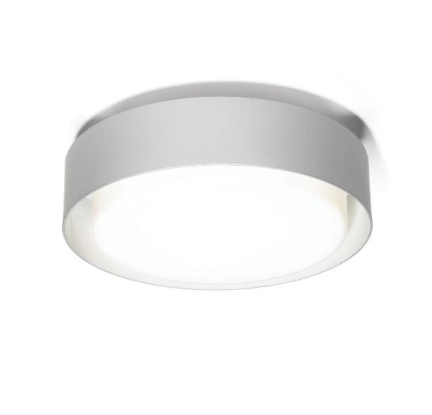Plaff-on! væglampe, ø50 sølvgrå