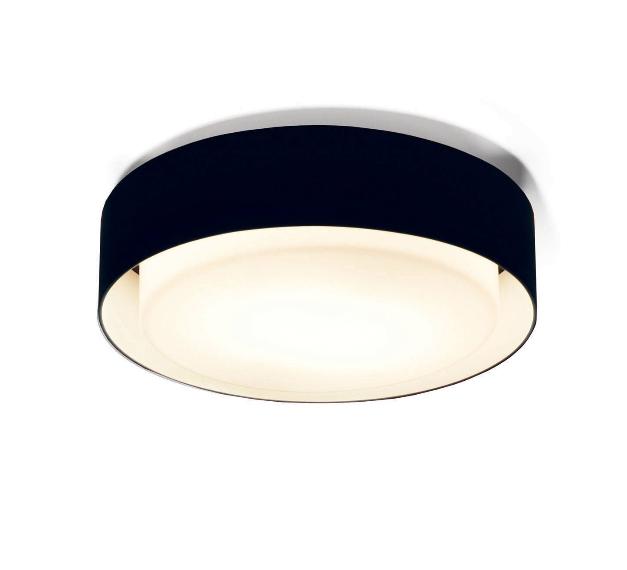 Plaff-on! væglampe, ø50 sort
