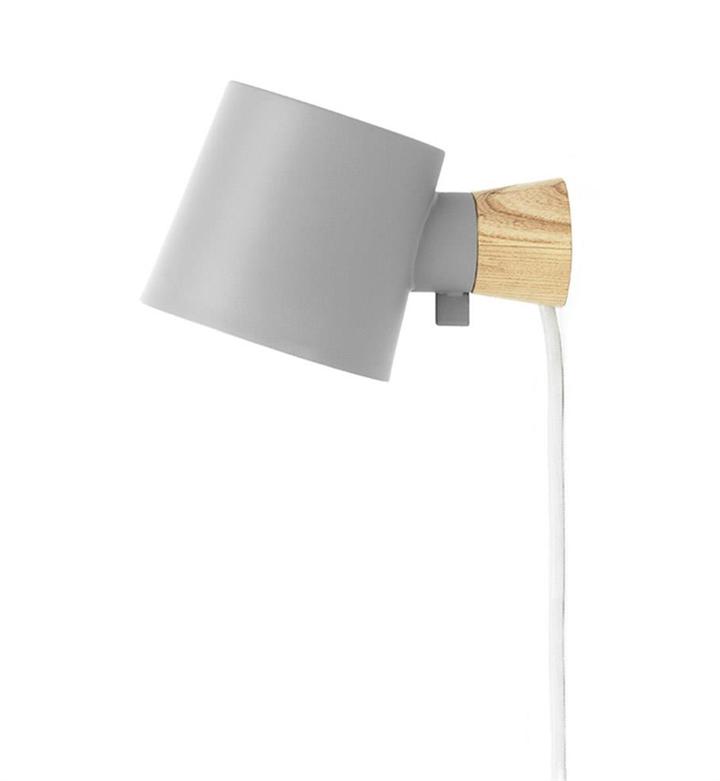 Rise væglampe, Grå