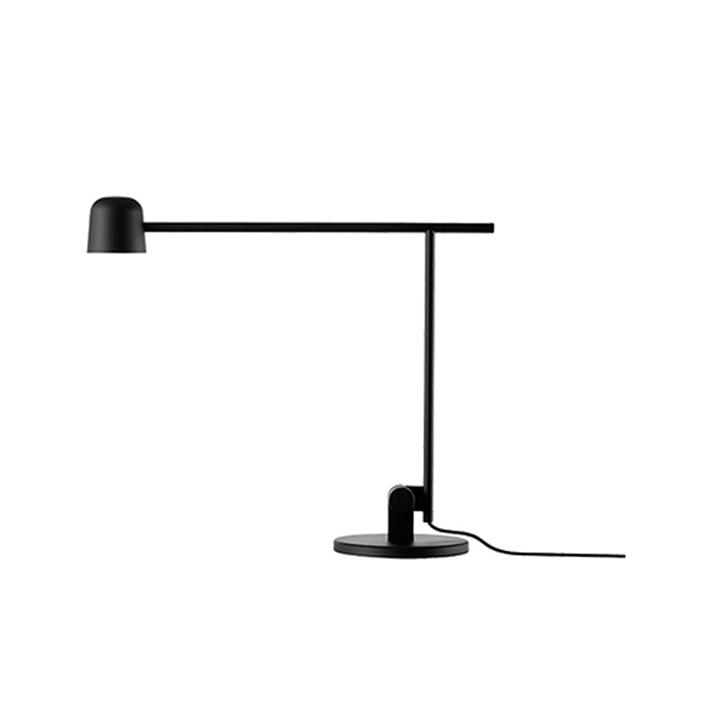 Satellite bordlampe, mat sort
