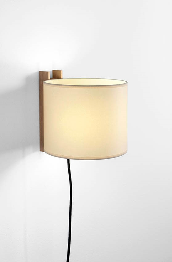 TMM Corto væglampe, bøg/beige m/ledning