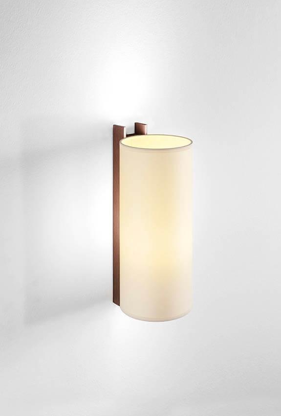 TMM Largo væglampe, valnød/beige