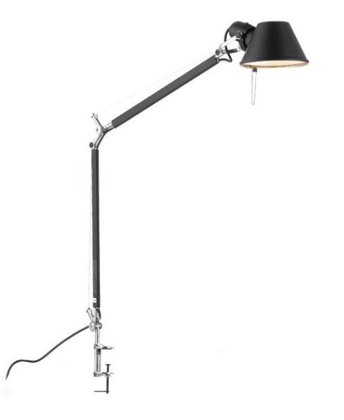 Tolomeo bordlampe, sort m/bordklemme