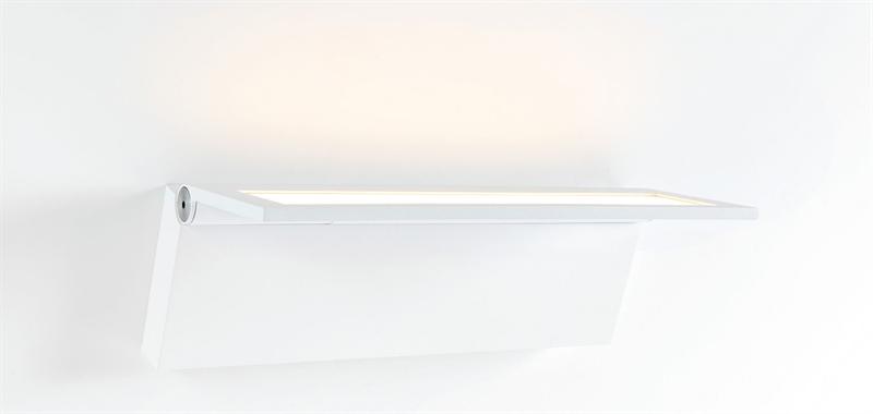 Wollet væglampe, hvid
