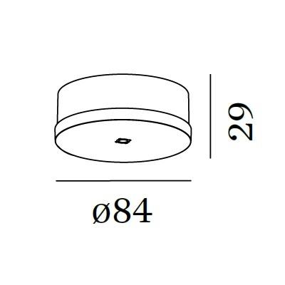 Pendel ophæng - enkel, hvid (skal bruges)