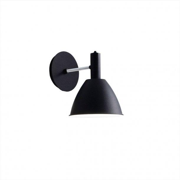 Bauhaus 90 w væglampe, sort