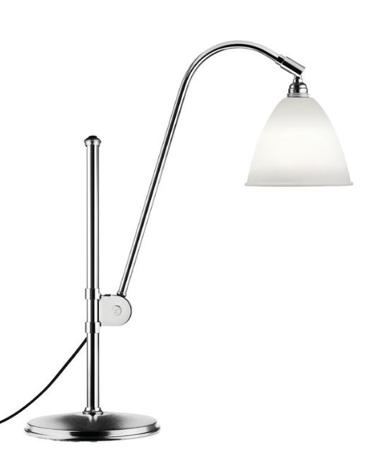 Bestlite BL1 bordlampe, krom/porcelæn