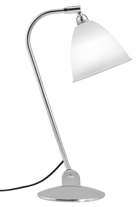 Bestlite bl2 bordlampe, krom/porcelæn