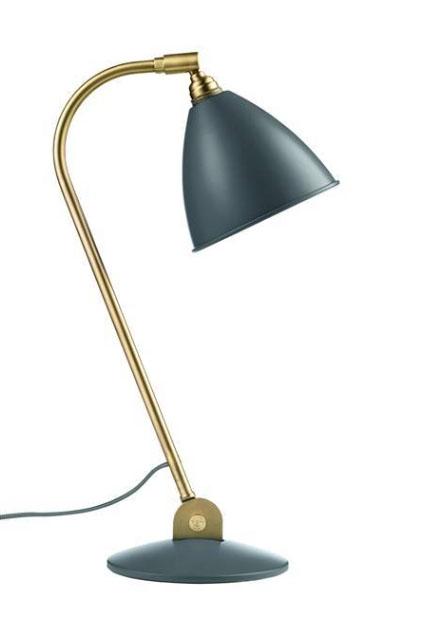 Bestlite bl2 bordlampe, messing/grå