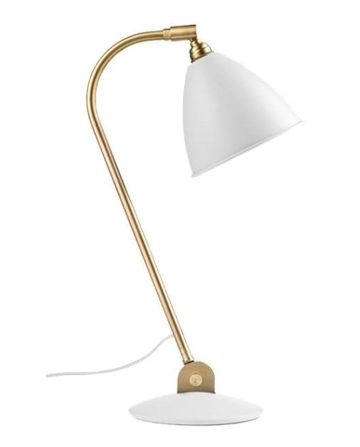 Bestlite bl2 bordlampe, messing/hvid