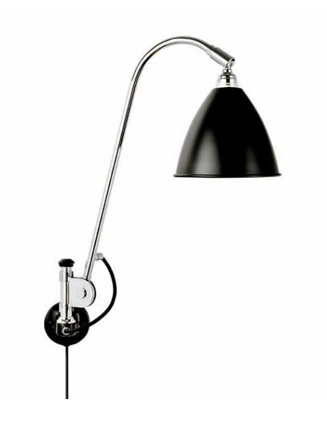 Bestlite bl6 væglampe, sort/krom