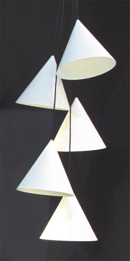 Dix Heures Dix Koony 5 cone pendel, hvid