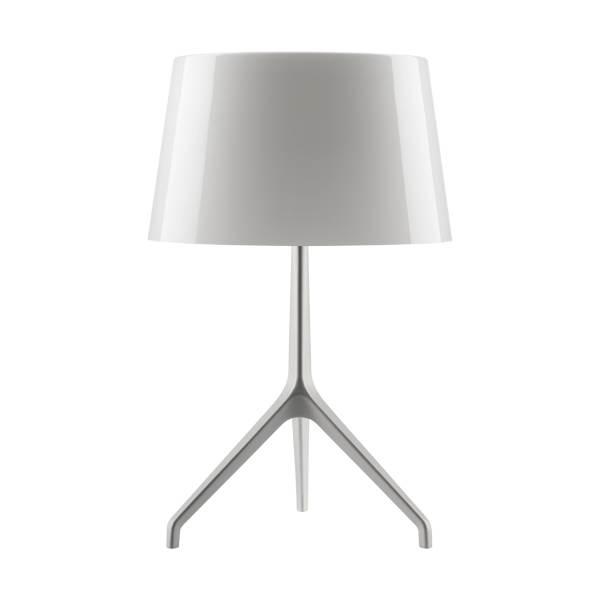 Lumiere XXS bordlampe, aluminium/hvid