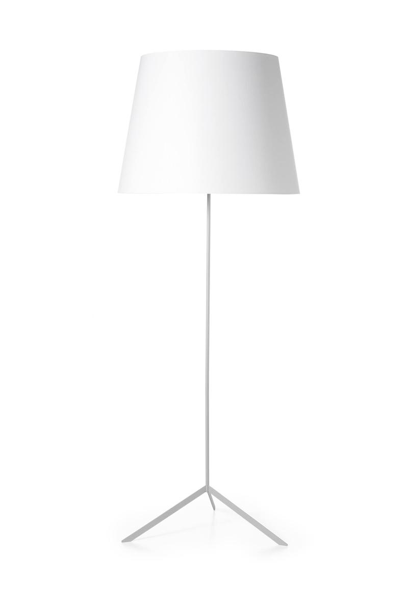 Double shade gulvlampe, hvid