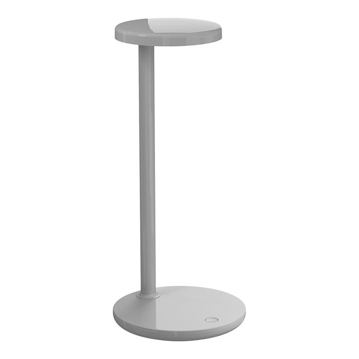 Oblique QI bordlampe, grå