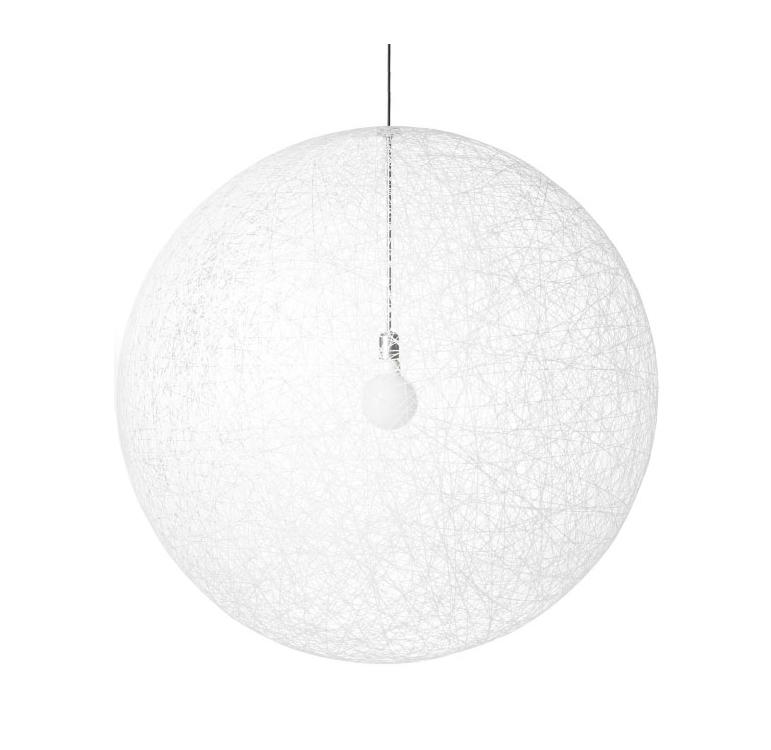 Random light pendel medium, hvid