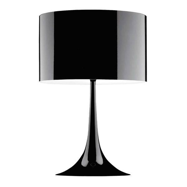 Spun Light T2 bordlampe, sort