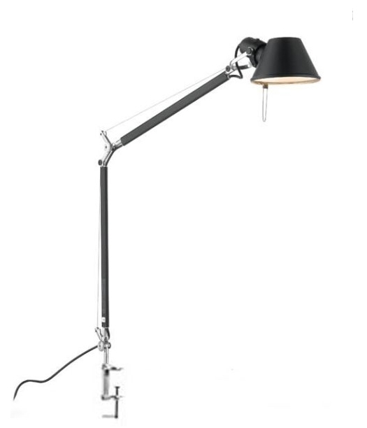 Tolomeo mini bordlampe, sort m bordklemme
