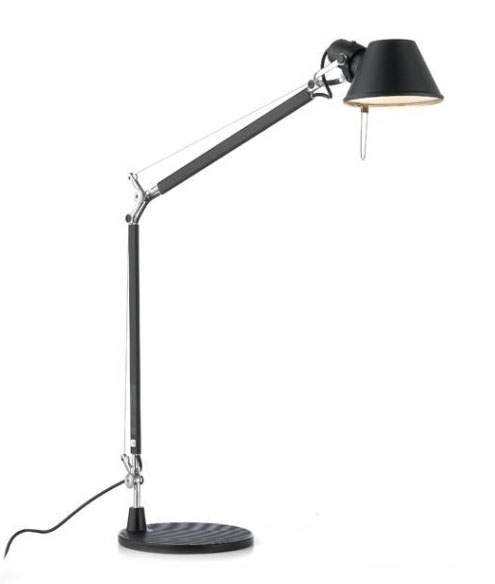 Tolomeo mini bordlampe, sort m bordfod